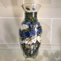 Blue Pot Pourri Vase